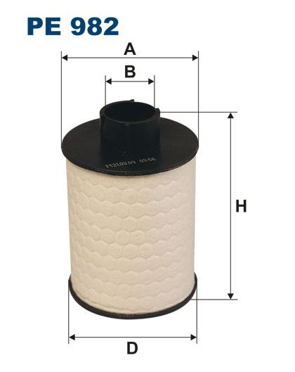 PE 982 фильтрующий элемент топлива Fiat Croma/Doblo,Opel Agila/Astra/Corsa,Suzu pe982