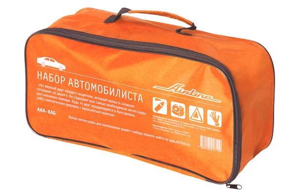 Сумка для набора автомобилиста с шелкографией (45х15х15см), оранжевая (ANA-BAG)