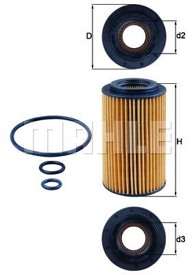 Фильтр маслянный MB Sprinter W906 W907 OM651