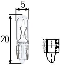 8GP 002 095-121 лампа  (1.2W) 12V W2X4.6d приборная панель\