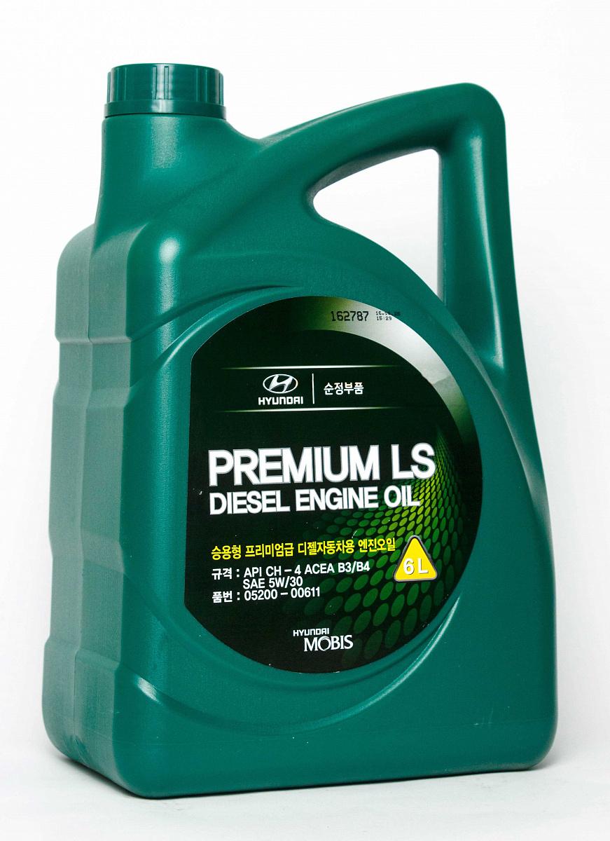 Масло моторное hyundai premium ls diesel sae 5w-30 ch-4, 6л