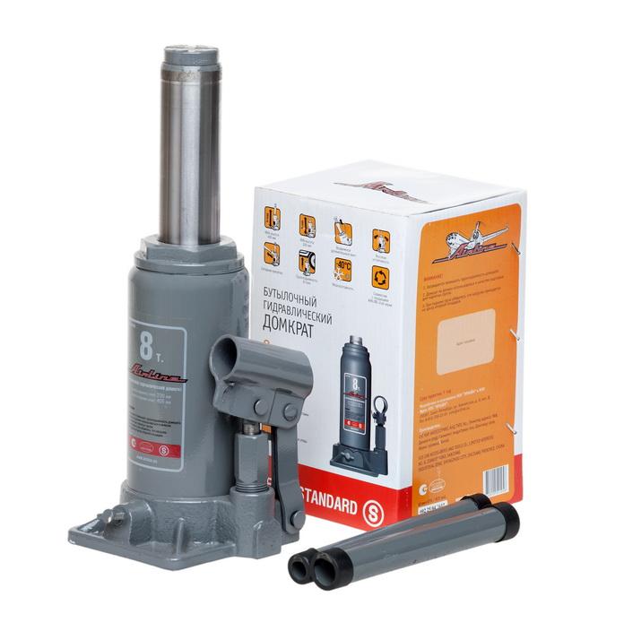 Домкрат бутылочный 8т S (MIN - 200 мм, MAX - 405 мм)  (AJ-B-08S)