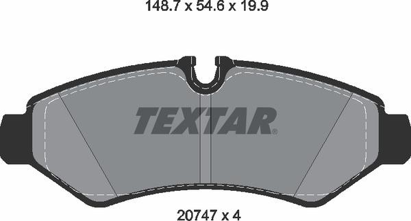 Колодки тормозные задние W907 односкат.