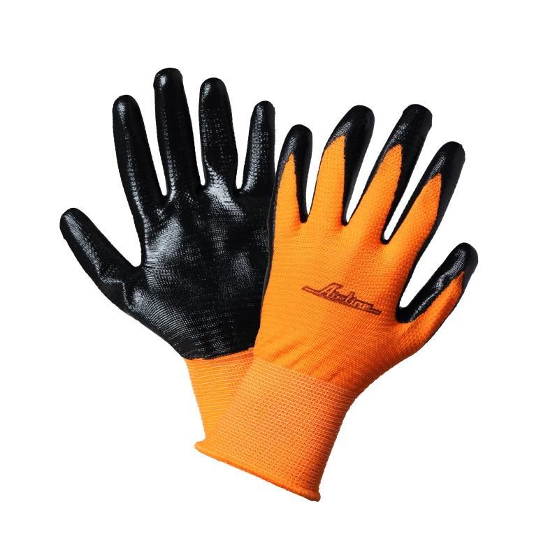 Перчатки с  двухслойным нитриловым покрытием ладони (AWG-L-03)