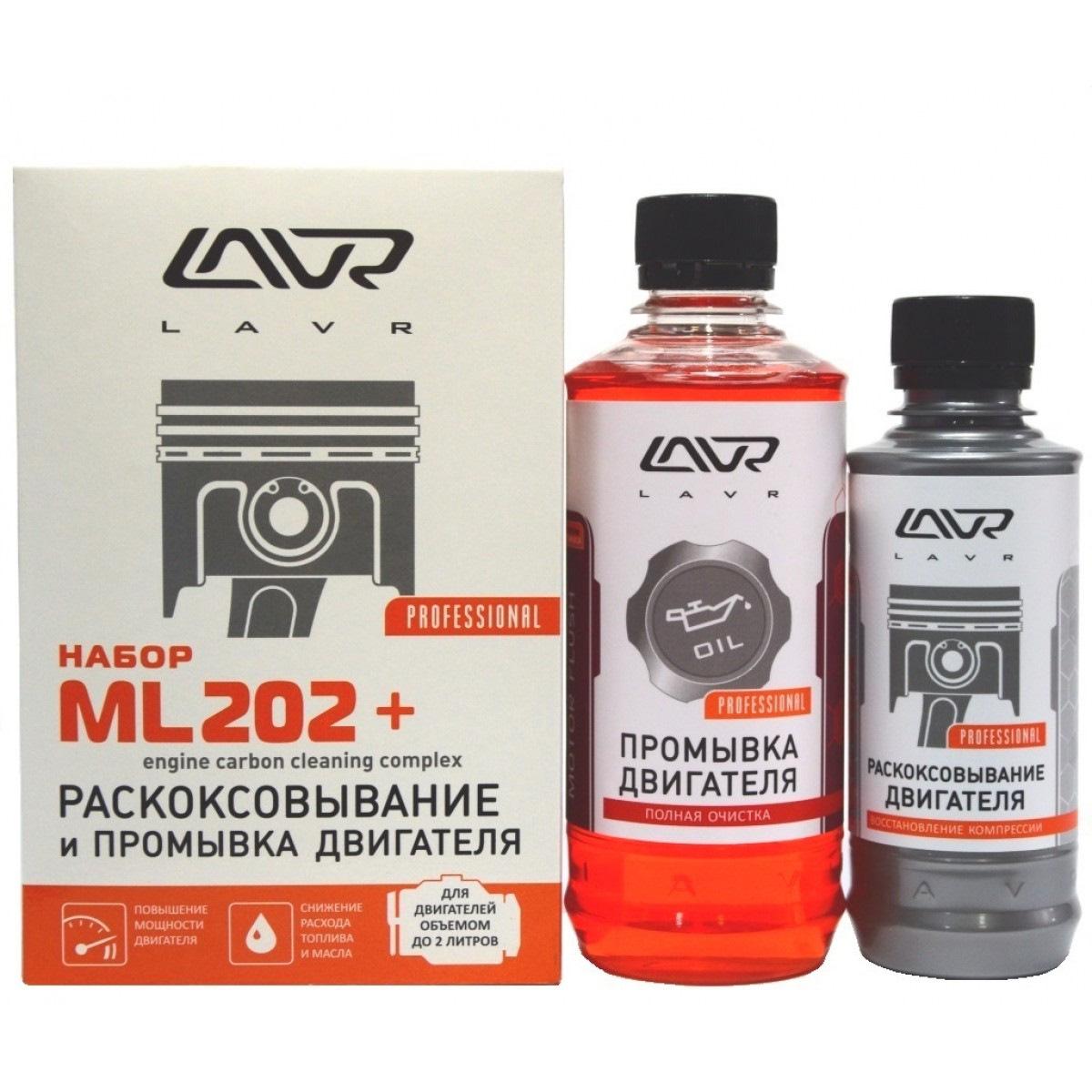 Набор: Раскоксовывание двигателя  ML-202 + Промывка двигателя (для двигателей до
