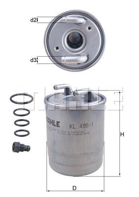 Фильтр топливный 906 OM651 с датчиком влаги