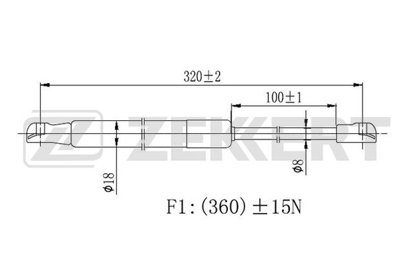 Амортизатор крышки багажника Volvo S40 II 04-