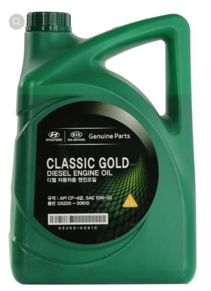 Hyundai classic gold diesel sae 10w-30 cf-4, 6л