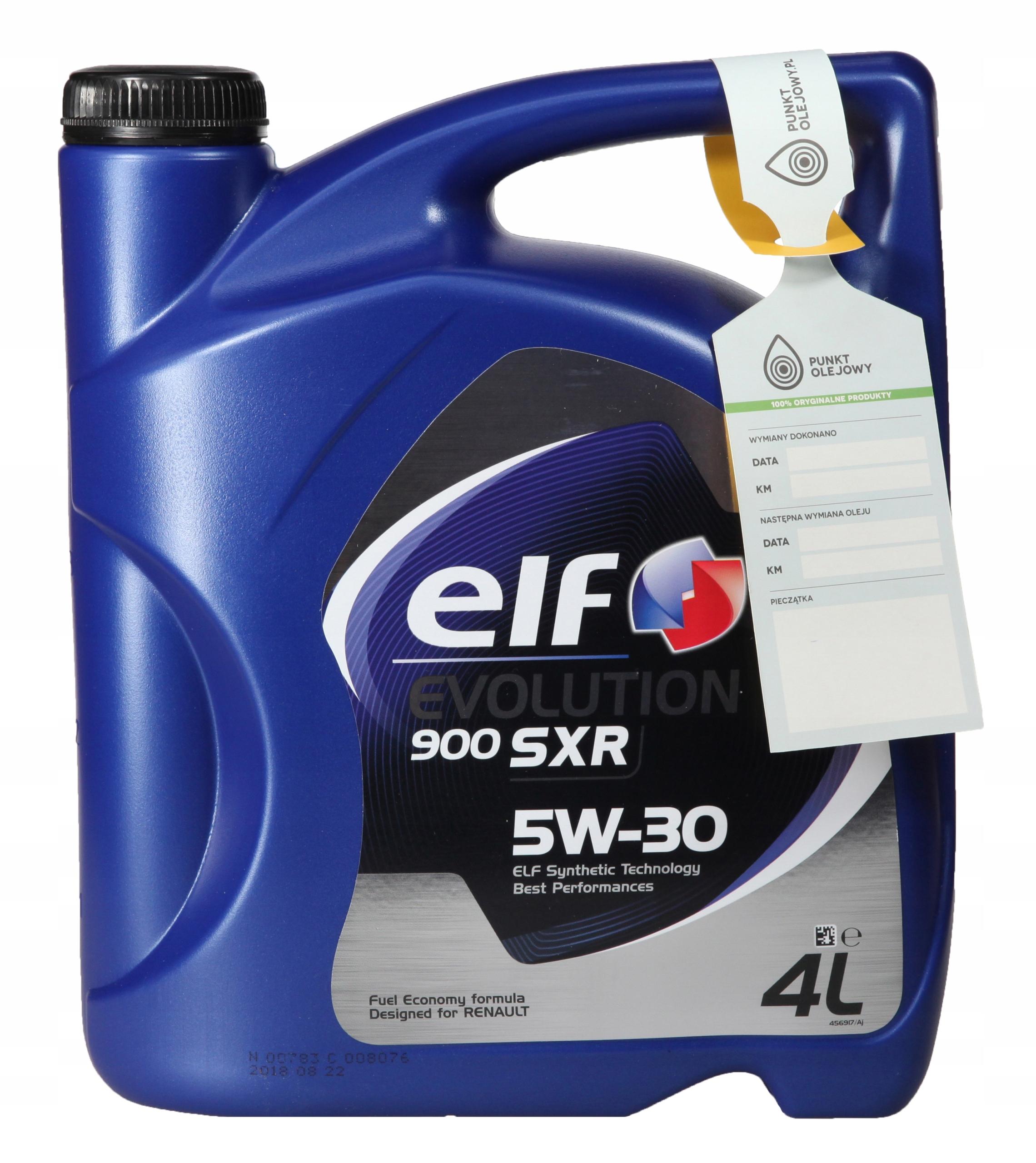 "Масло моторное ""ELF Evolution 900 SXR 5W-30 ACEA A5/B5; API SL/CF"", 4л"