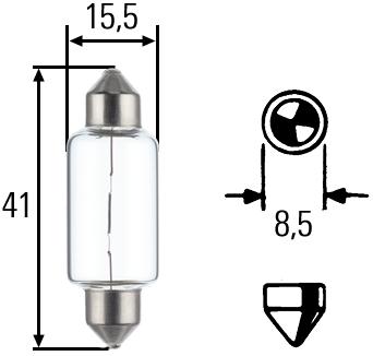 лампа 12V С15W подсветка салона