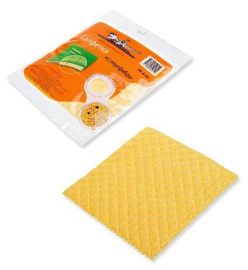 Салфетка из порофибры желтая (20*18 см)  (AB-A-05)