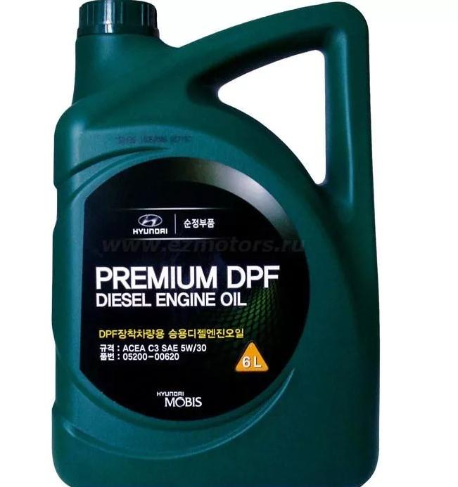 "Масло моторное ""HYUNDAI Premium DPF Diesel 5W-30 C3"", 6л"