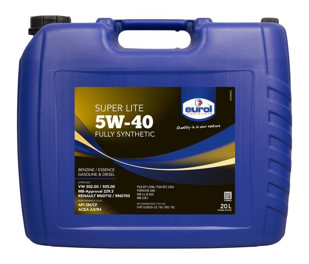 """Масло моторное синтетическое """"Super Lite 5W-40"""", 20л"""
