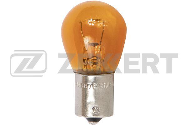 лампа 12V 21w с цоколем (желтая) смещенная