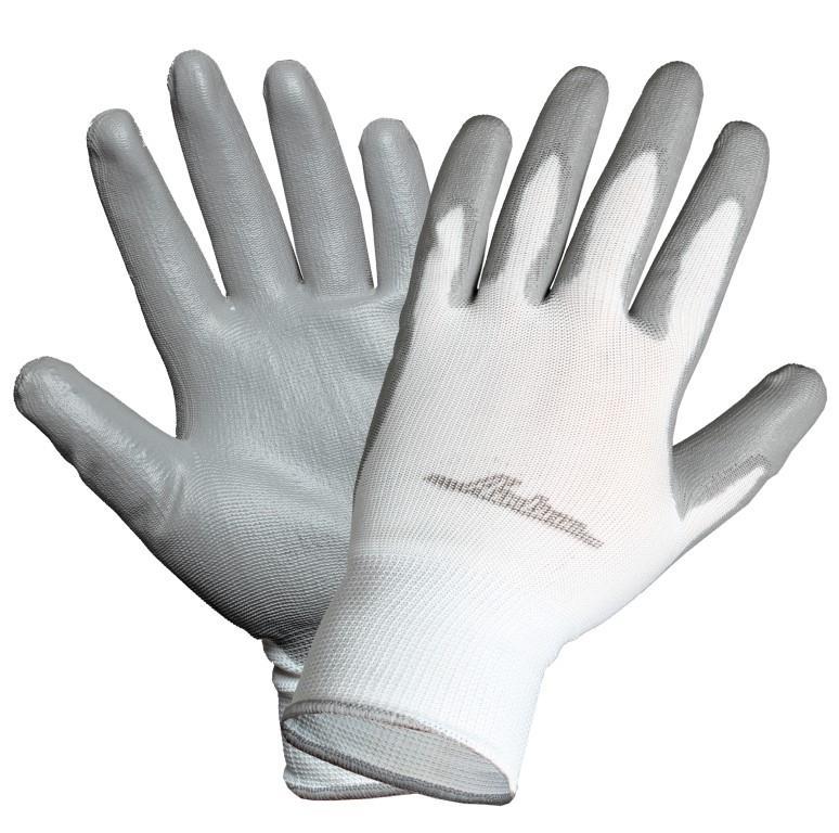 Перчатки нейлоновые с цельным ПУ покрытием ладони (AWG-N-02)