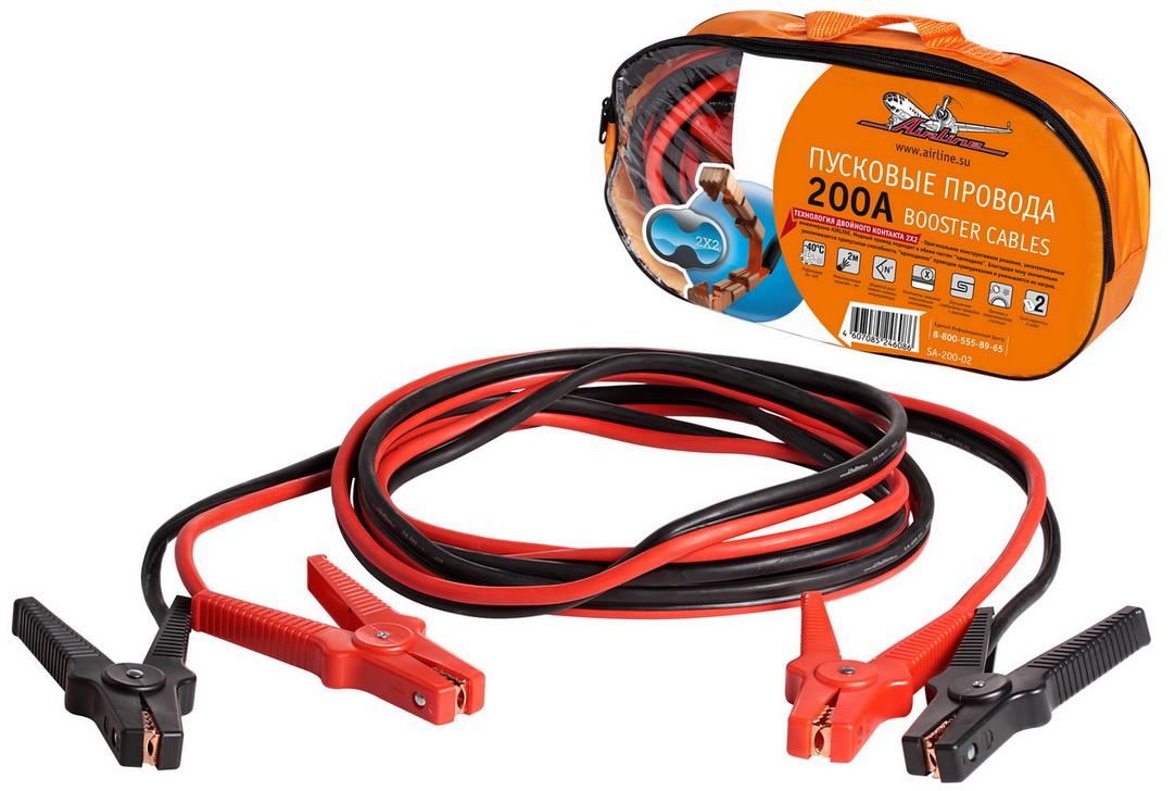 Провода прикуривания 200А в сумке (2м, 12В) (SA-200-02)