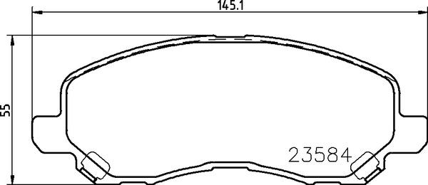 колодки тормозные передние (144,9*55,1) Citroen C4 11-, Mitsubishi ASX 10-, Lancer IX, X 03-, Outlander I-III 03-