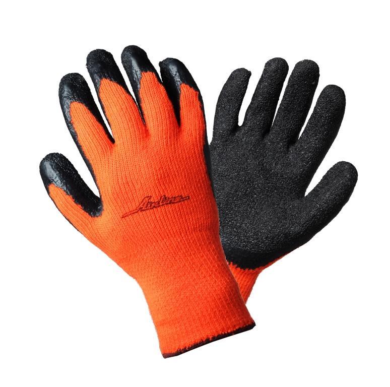 Перчатки утепленные с двухслойным латексным покрытием ладони (AWG-W-05)