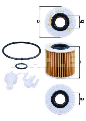 Элемент масляного фильтра Toyota RAV 4 III 3,5 VVTi (2GR-FE) (0415231050) Knecht
