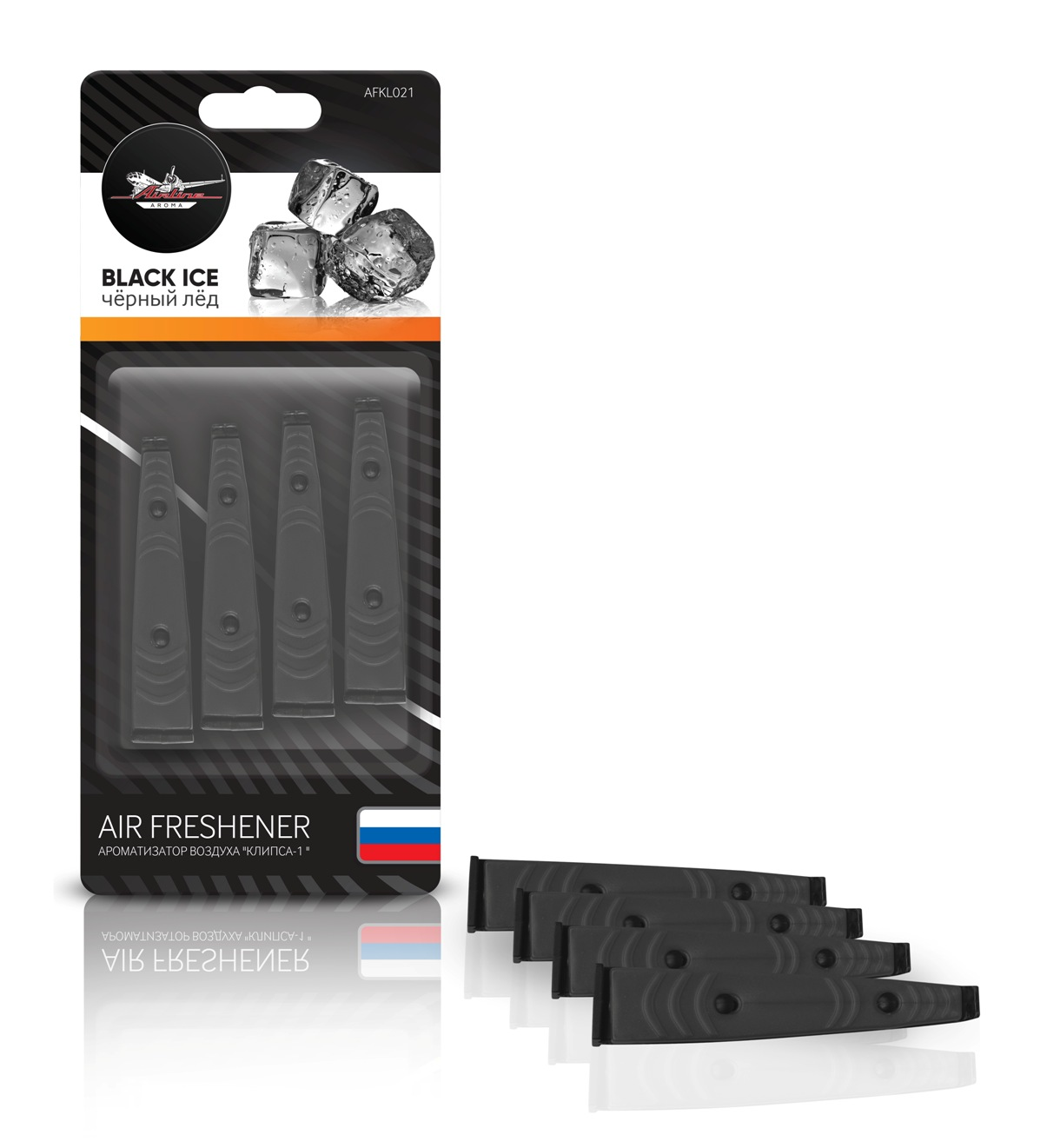 """Ароматизатор в дефлектор """"Клипса-1"""" черный лед (AFKL021)"""