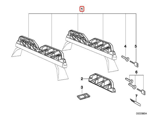 Система кронштейнов крыши BMW