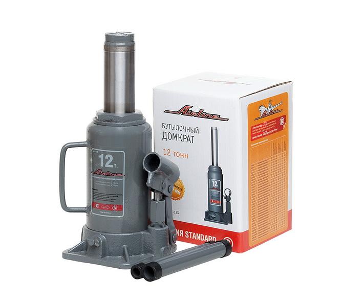 Домкрат бутылочный 12т S (MIN - 210 мм, MAX - 415 мм)  (AJ-B-12S)