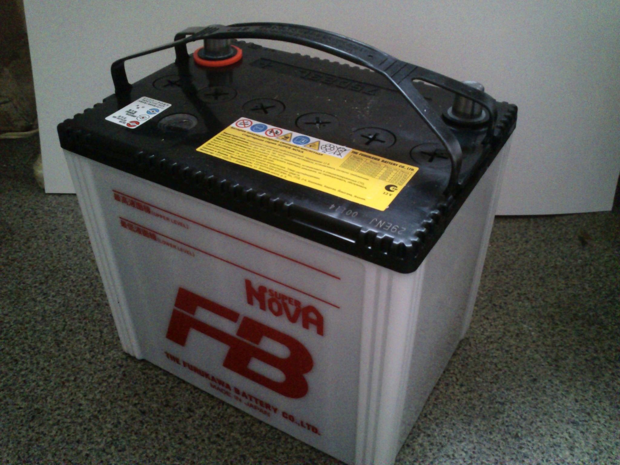 "Батарея аккумуляторная ""Super Nova"", 12В 65А/ч"