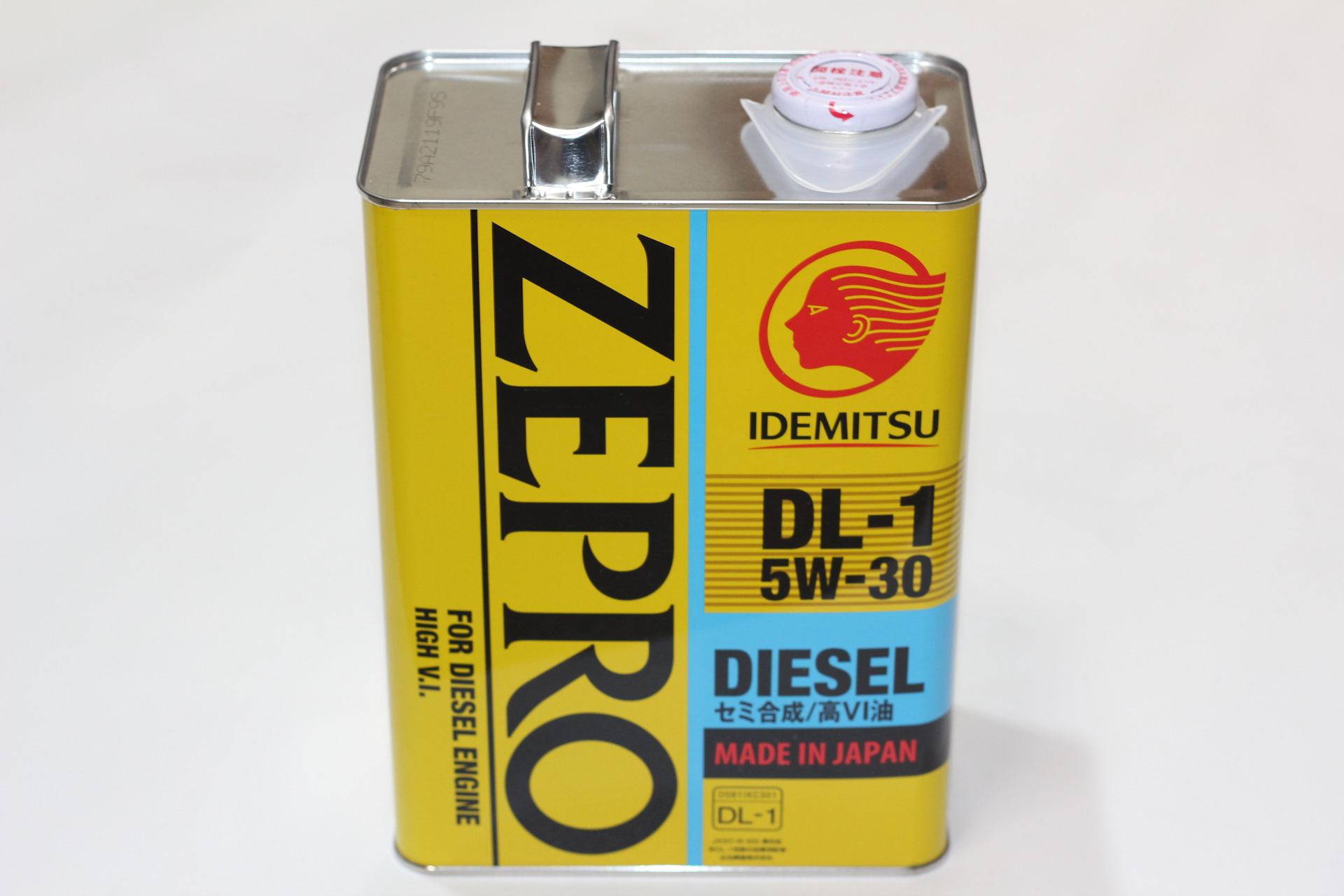 "Масло моторное ""IDEMITSU Zepro Diesel DL-1 5W-30 ACEA C2, API CF, JASO DL-1"", 4л"