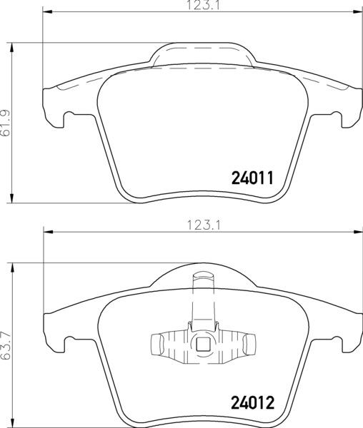 колодки тормозные задние Volvo XC90
