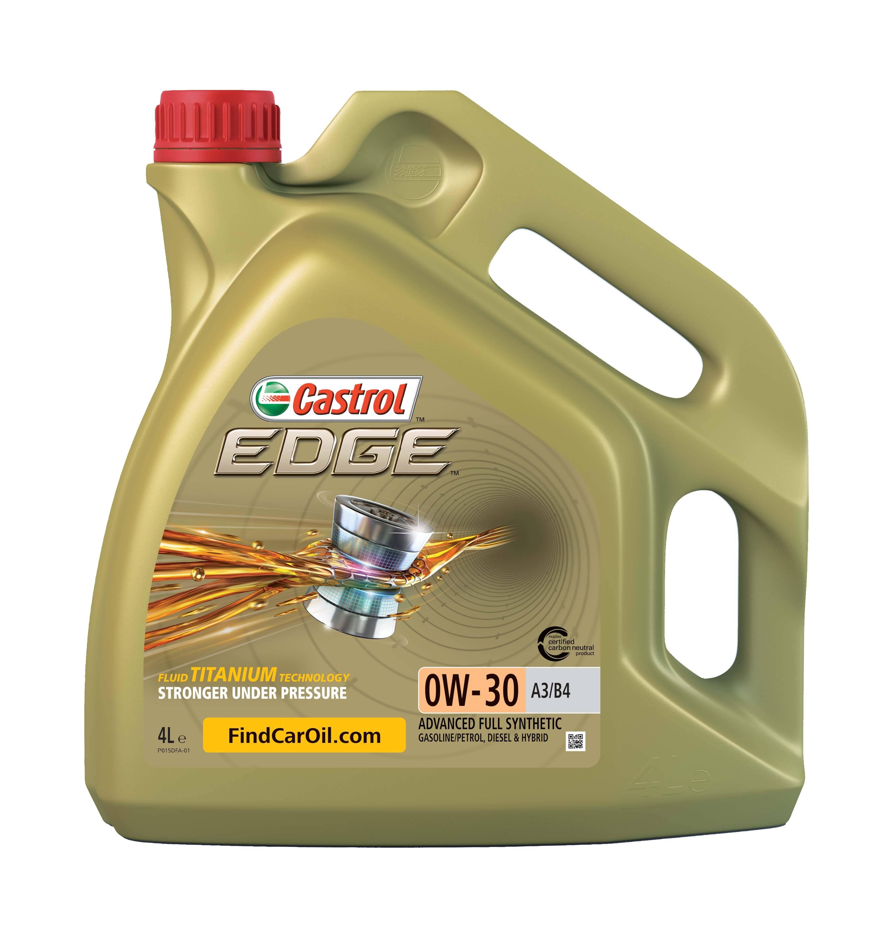 """Масло моторное синтетическое """"EDGE A3/B4 TITANIUM FST 0W-30"""", 4л"""