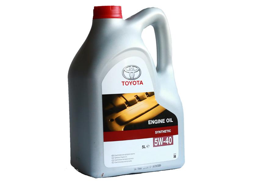 "Масло моторное ""TOYOTA ENGINE OIL 5W-40 ACEA A3/B3/B4; API SL/CF"", 5л"