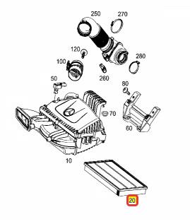 Фильтр воздушный Спринтер 18- (W910)