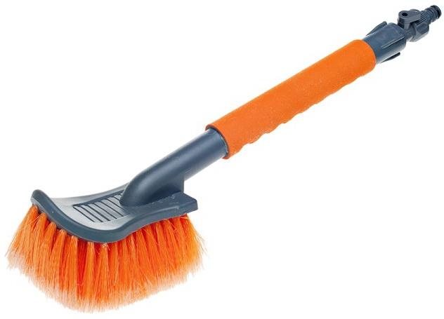 Щетка для мытья с насадкой для шланга, с мягкой распушенной щетиной (40 см)  (AB-I-05)