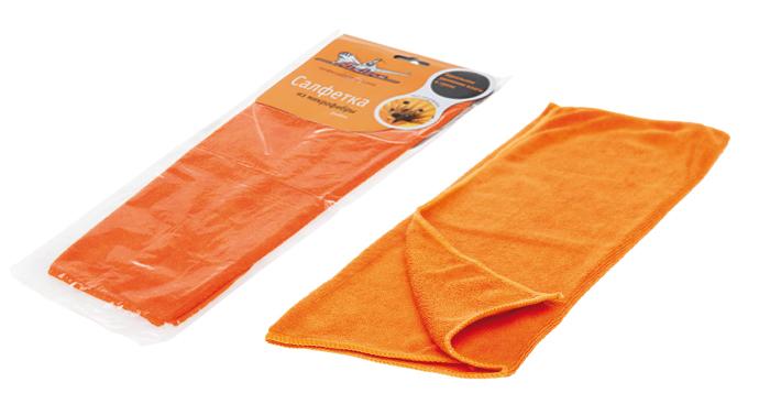 Салфетка из микрофибры оранжевая (35*40 см)  (AB-A-02)