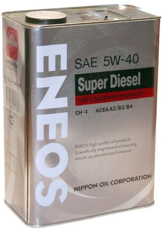 Масло моторное ENEOS SUPER DIESEL  CH-4 5W40, 4 л