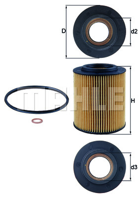 Фильтр масл BMW M52 MAHLE / KNECHT