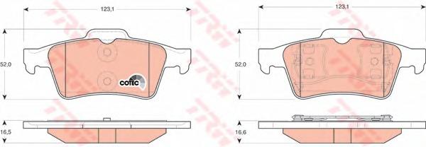 Колодки задние P12E TRW/LUCAS