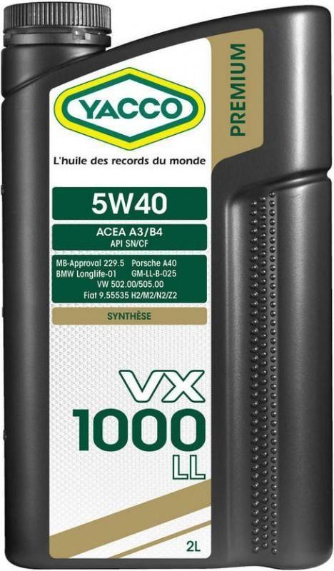 """Масло моторное синтетическое """"VX 1000 LL 5W-40"""", 2л"""