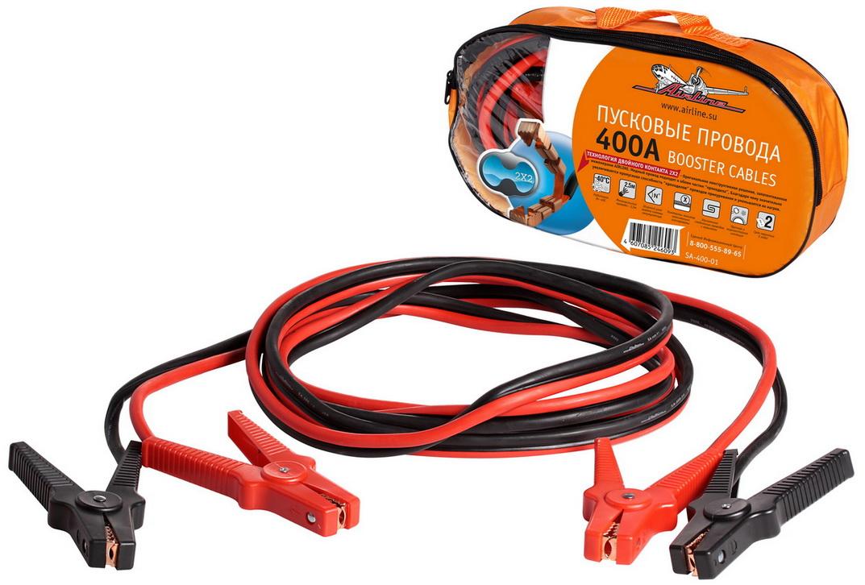 Провода прикуривания 400А в сумке (2,5м, 12/24В) (SA-400-01)