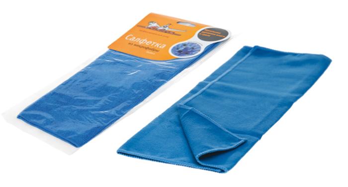 Салфетка из микрофибры синяя (35*40 см)  (AB-A-03)