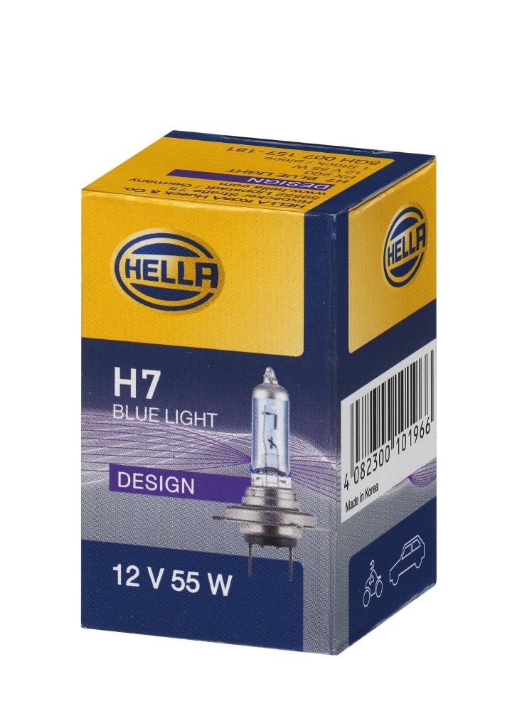 8GH 007 157-181 лампа (H7) 55W 12V PX26D галогенная голубая Blue Light 8gh007157181