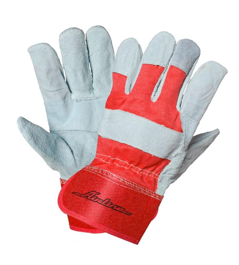 Перчатки спилковые, комбинированные EXPERT (защитные от механических повреждений ) (AWG-S-07)