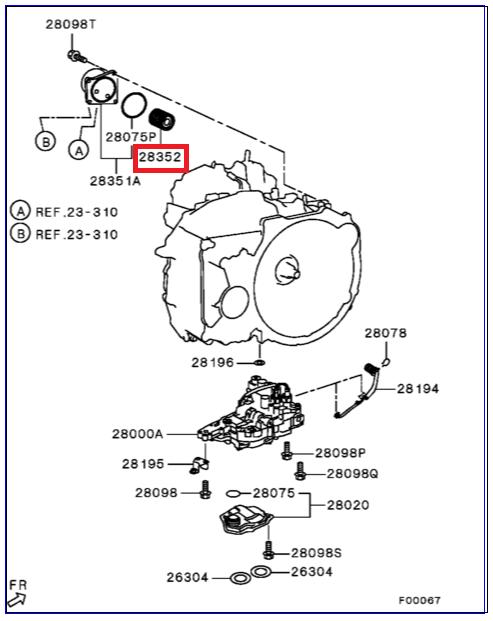 Фильтр CVT X-Trail Qashqai J10 ВСТАВКА(2920A096 прокладка) MITSUBISHI