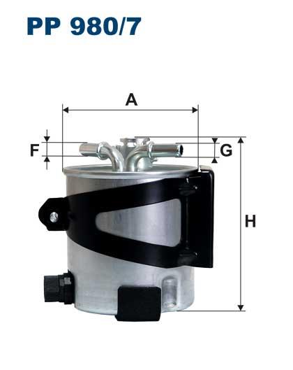 PP 980/7 фильтр топливный Renault Megane II 1.5dCi/2.0dCi 05 pp9807
