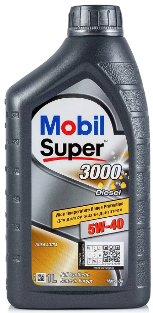 Масло моторное MOBIL SUPER 3000 X1 DIESEL 5W40  1L MB 229.3