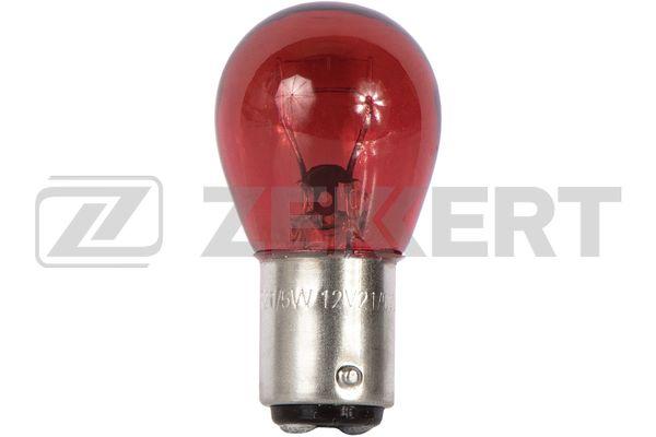 лампа 12V 21/5W с цоколем (красная)