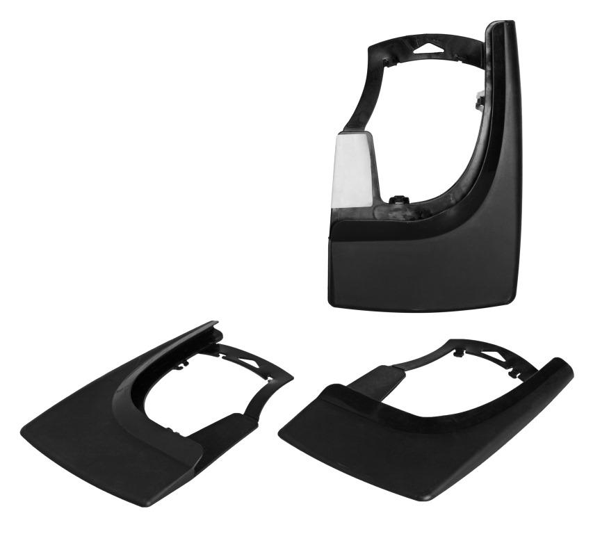 Брызговики универсальные для легковых автомобилей, черные, 2шт.(AMF-00)