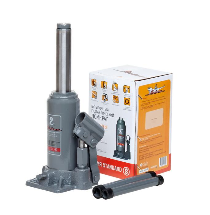 Домкрат бутылочный 2т S (MIN - 150 мм, MAX - 285 мм)  (AJ-B-02S)