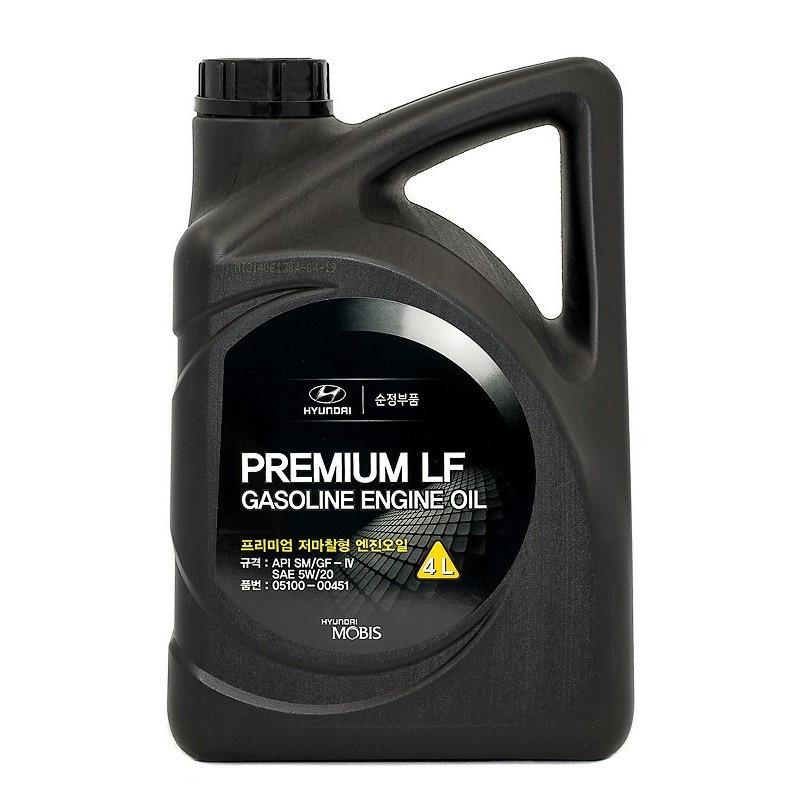 Hyundai premium lf gasoline sae 5w-20 sm, 4л