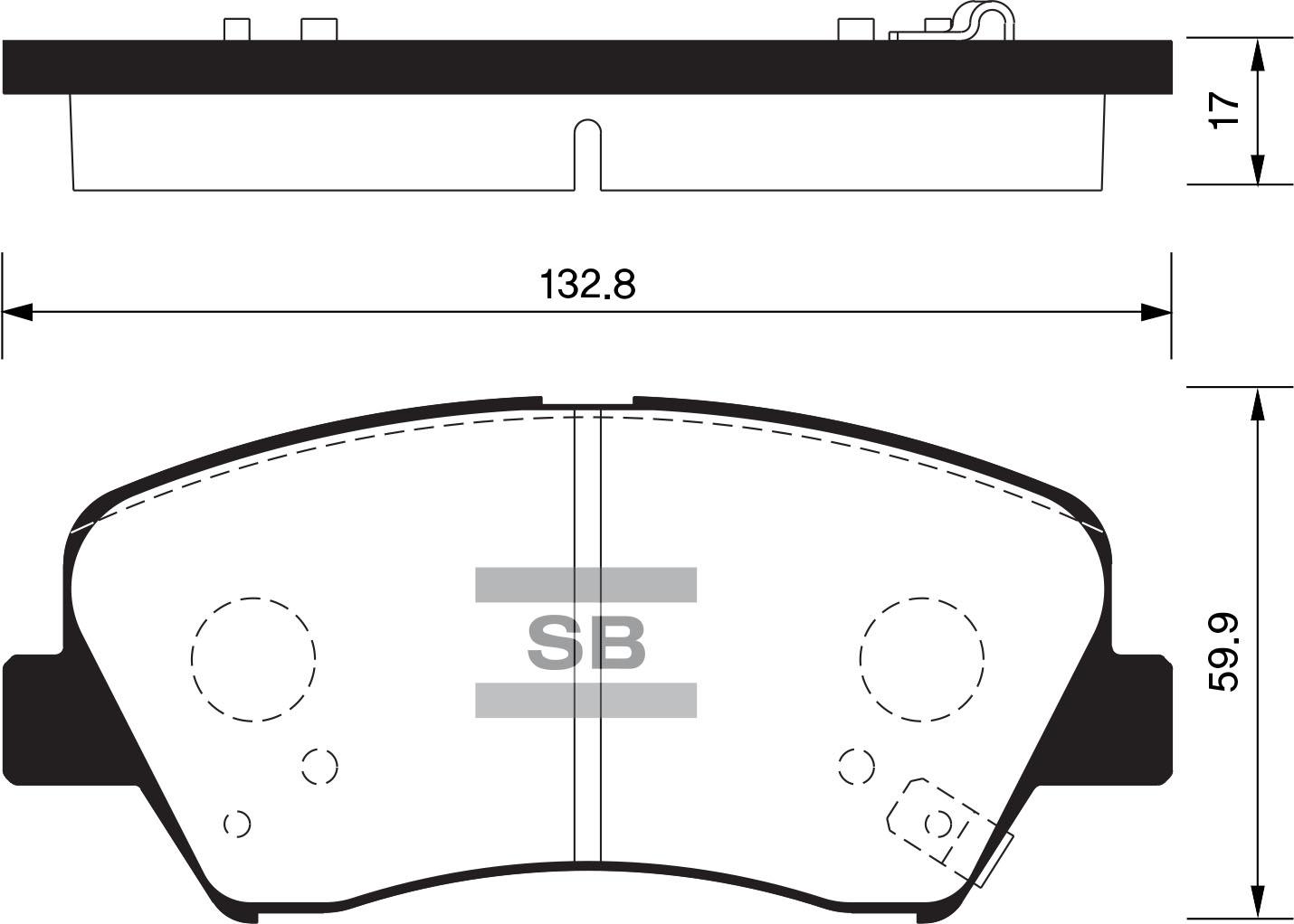 SP1400 [581013XA00] колодки дисковые п. Hyundai Elantra all 11 sp1400